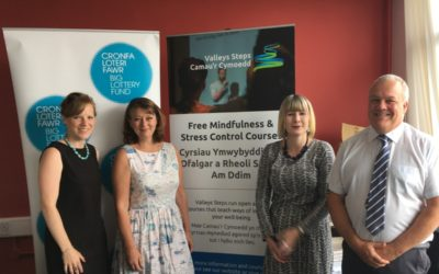 Leanne Wood and John Rose get mindful with Valleys Steps